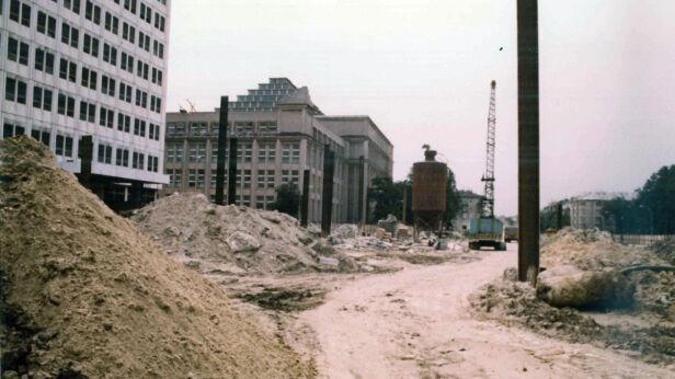 Budowa stacji metra Pole Mokotowskie ZTM