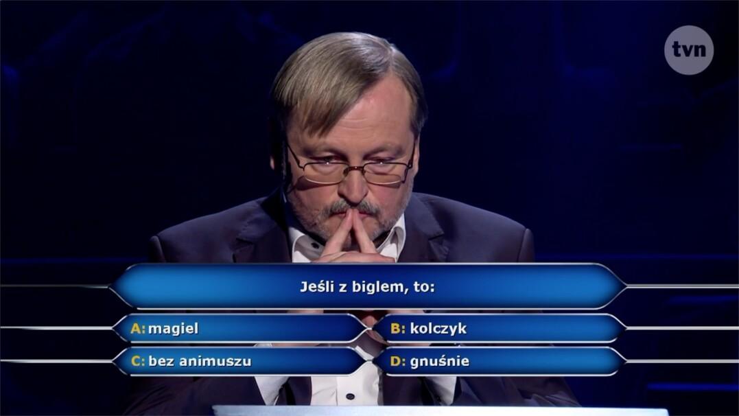 """Pytanie w """"Milionerach"""" za 75 tysięcy złotych o Bigiel"""
