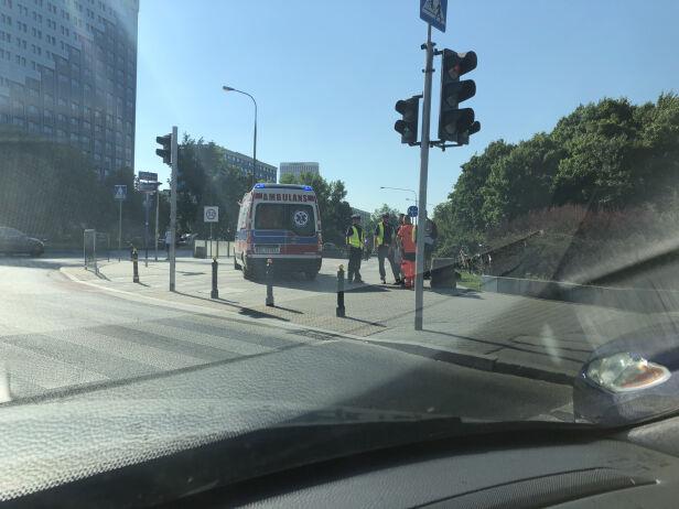 Zderzenie rowerzystów Karol Kobos, tvnwarszawa.pl