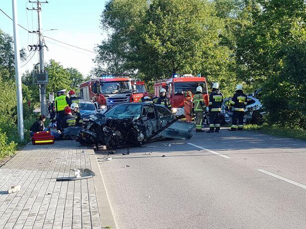 Wypadek pod Piasecznem WPI Taxi Piaseczno