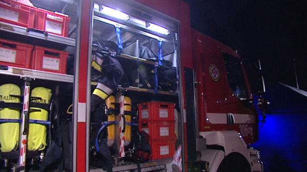 Na miejsce wezwano straż pożarną archwium TVN