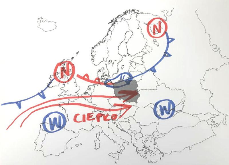 Fronty atmosferyczne w Europie