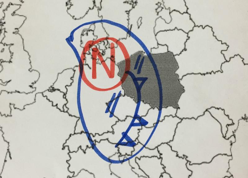 Intensywne opady deszczu są związane z niżem znad Niemiec
