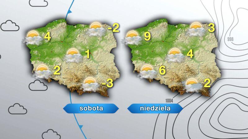 Prognoza pogody na sobotę i niedzielę