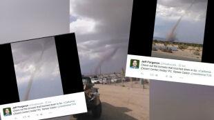 Tornado na pustyni. To zdarza się bardzo rzadko
